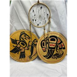 Nice West Coast First Nations Lot of Carvings and a Dream Catcher