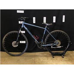 BLUE ROCKY MOUNTAIN WHISTLER 24 SPEED FRONT SUSPENSION MOUNTAIN BIKE WITH FRONT AND REAR DISC