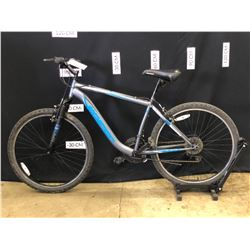 GREY HYPER BOUNDARY TRAIL 18 SPEED FRONT SUSPENSION MOUNTAIN BIKE, 74 CM STANDOVER HEIGHT