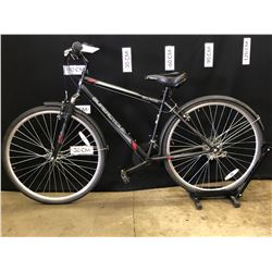 """BLACK SUPERCYCLE SOLARIS 18 SPEED FRONT SUSPENSION TRAIL BIKE, 18"""" FRAME SIZE, 79 CM STANDOVER"""