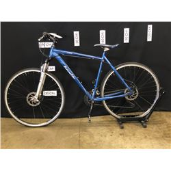 BLUE BRODIE SALISH 24 SPEED FRONT SUSPENSION TRAIL BIKE WITH FRONT AND REAR DISC BRAKES, 83 CM