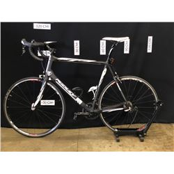 BLACK RIDLEY ORION 20 SPEED ROAD BIKE WITH HYBRID CLIP PEDALS, 85 CM STANDOVER HEIGHT