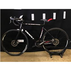 BLACK GIANT ALLUXX SLR 20 SPEED HYBRID ROAD BIKE WITH FRONT AND REAR DISC BRAKES, 81 CM STANDOVER