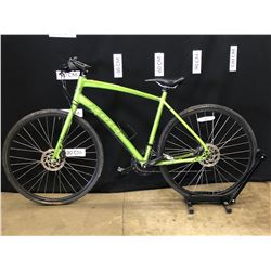 GREEN KONA DR DEW 20 SPEED HYBRID TRAIL BIKE WITH FRONT AND REAR HYDRAULIC DISC BRAKES, 59 CM FRAME
