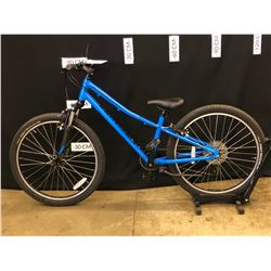 BLUE SPECIALIZED HOT ROCK 8 SPEED FRONT SUSPENSION YOUTH SIZE MOUNTAIN BIKE, 66 CM STANDOVER HEIGHT