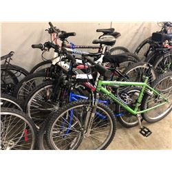 6 ASSORTED PARTS ONLY/POOR CONDITION BIKES, VARIOUS BRANDS, VARIOUS CONDITIONS