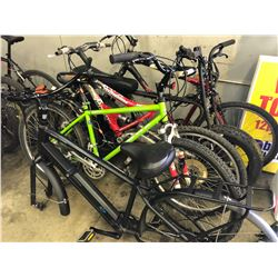 5 ASSORTED PARTS ONLY/POOR CONDITION BIKES, VARIOUS BRANDS, VARIOUS CONDITIONS