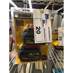 DEWALT FLEX VOLT 6 AMP 2 BATTERY KIT