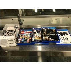 4 PS4 GAMES AND SONY EAR BUDS