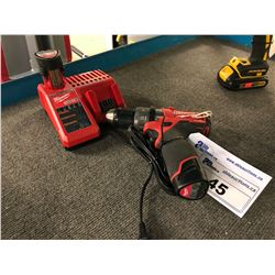 MILWAUKEE 12 VOLT CORDLESS DRILL/DRIVER WITH BATTERY AND COMBO CHARGER