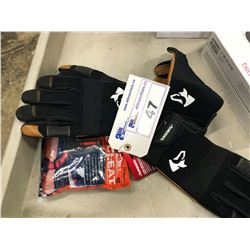 HUSKY WORK GLOVES AND ICE CLEATS