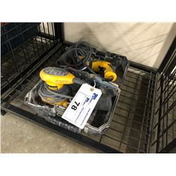 "DEWALT CORDED PALM SANDER AND 1/2"" VSR DRILL"