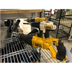2 DEWALT DRILLS AND RECIPROCATING SAW