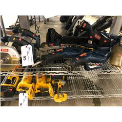 ASSORTED RYOBI TOOLS INC. CIRCULAR SAWS, RECIPROCATING SAWS, JIG SAW AND MORE