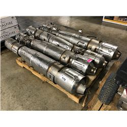 LOT OF 4 HEAVY DUTY CATALYTIC CONVERTERS, CONDITION UNKNOWN