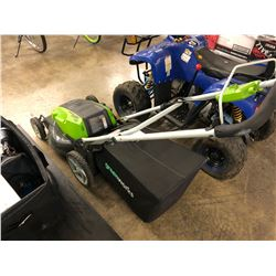 GREENWORKS 13 AMP CORDED ELECTRIC LAWN MOWER