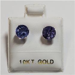 10K WHITE GOLD TANZANITE (1.72CT) EARRINGS