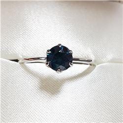 14K WHITE GOLD BLUE DIAMOND(0.70CT) RING