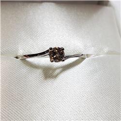 10K WHITE GOLD DIAMOND(0.22CT) RING