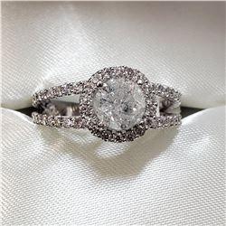 14K WHITE GOLD DIAMOND (1.1CT) DIAMOND (0.75CT) RING