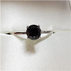 10K WHITE GOLD BLACK DIAMOND(1.3CT) RING