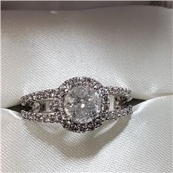 14K WHITE GOLD DIAMOND (1CT) DIAMOND (0.75CT) RING