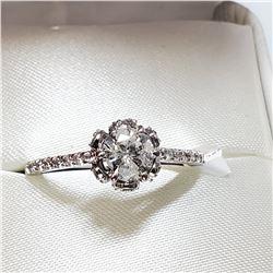 14K WHITE GOLD DIAMOND (0.65CT) DIAMOND (0.25CT) RING