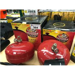 LOT OF 4 FLAME DEFENDER AUTOMATIC CEILING MOUNT FIRE EXTINGUISHERS, NOT TESTED, PREVIOUSLY