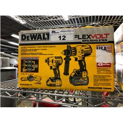 DEWALT FLEXVOLT BRUSHLESS 20V MAX HAMMERDRILL/IMPACT DRIVER KIT MODEL DCK299D1T1, IN ORIGINAL