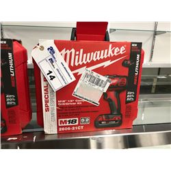 "MILWAUKEE M18 1/2"" COMPACT DRILL/DRIVER KIT"
