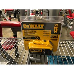 DEWALT 20 VOLT XR 5 AMP BATTERY