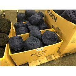 BOX OF BLUE AUSTRALIAN WOOL YARN