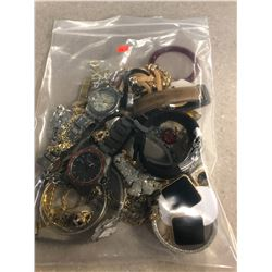 BAG OF ASSORTED COSTUME JEWELRY AND WATCHES