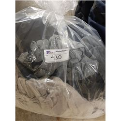 BAGS OF ASSORTED CLOTHING AND HANGERS - LOTS OF MEN'S LULU LEMON SHIRTS