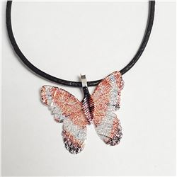 NATURAL BUTTERFLY LEAF 18  NECKLACE