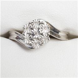 SILVER 7 DIAMOND RING