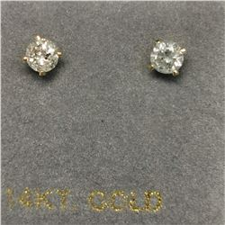 14K 2 DIAMOND(0.24CT) EARRINGS