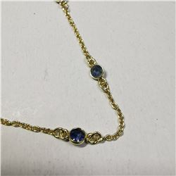 SILVER BLUE SAPPHIRE(5CT) NECKLACE