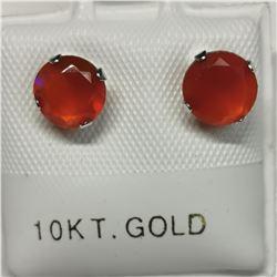 10K 2 CARNELIAN(1.4CT) EARRINGS