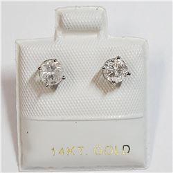 14K WHITE GOLD DIAMOND (0.8CT) EARRINGS