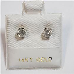 14K WHITE GOLD DIAMOND (0.5CT) EARRINGS