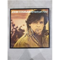 """JOHN (COUGAR) MELLENCAMP SIGNED AND PROFESSIONALLY FRAMED """"AMERICAN FOOL"""" ALBUM WITH CERTIFICATE"""