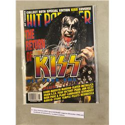 GENE SIMMONS (KISS) SIGNED HIT PARADER MAGAZINE (NOVEMBER 1998) WITH CERTIFICATE OF AUTHENTICITY