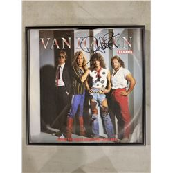 """VAN HALEN SIGNED AND PROFESSIONALLY FRAMED ALBUM (PANAMA 12"""" LP), SIGNED BY DAVID LEE ROTH WITH"""