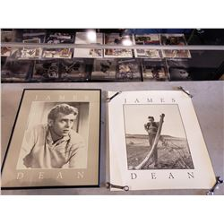 """JAMES DEAN (1931-1955) PROFESSIONALLY FRAMED AND UNFRAMED POSTERS. """"REBEL WITHOUT A CAUSE"""" STAR"""