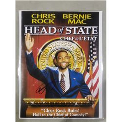 """CHRIS ROCK SIGNED """"HEAD OF STATE"""" PICTURE WITH CERTIFICATE OF AUTHENTICITY. KNOWN FOR HIS STAND-"""