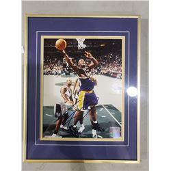SHAQUILLE O'NEAL SIGNED AND PROFESSIONALLY FRAMED L.A. LAKERS PHOTOGRAPH WITH CERTIFICATE OF