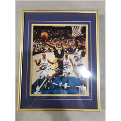 KOBE BRYANT (1978-2020) SIGNED AND PROFESSIONALLY FRAMED L.A. LAKERS PHOTOGRAPH WITH CERTIFICATE