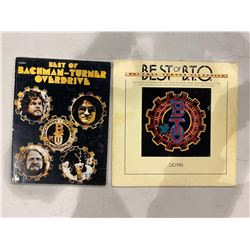 """B.T.O (BACHMAN-TURNER OVERDRIVE) SIGNED """"BEST OF BTO"""" BOOK (SIGNED TWICE) SIGNED BY RANDY"""