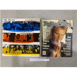 STING (THE POLICE) SIGNED ROLLING STONE MAGAZINE WITH CERTIFICATE OF AUTHENTICITY AND SYNCHRONICITY